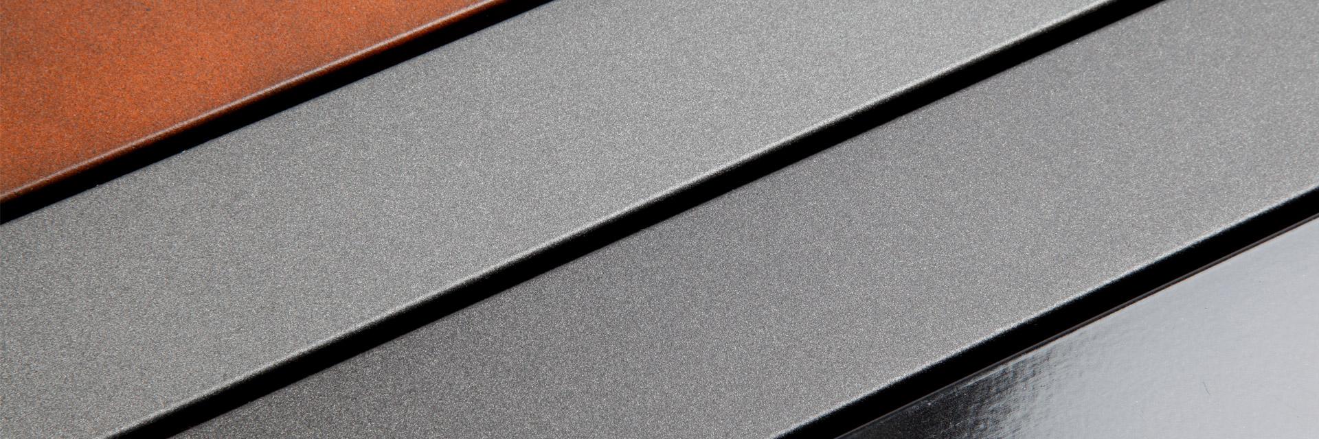 Wir beschichten auch Stahl oder andere Metalle.