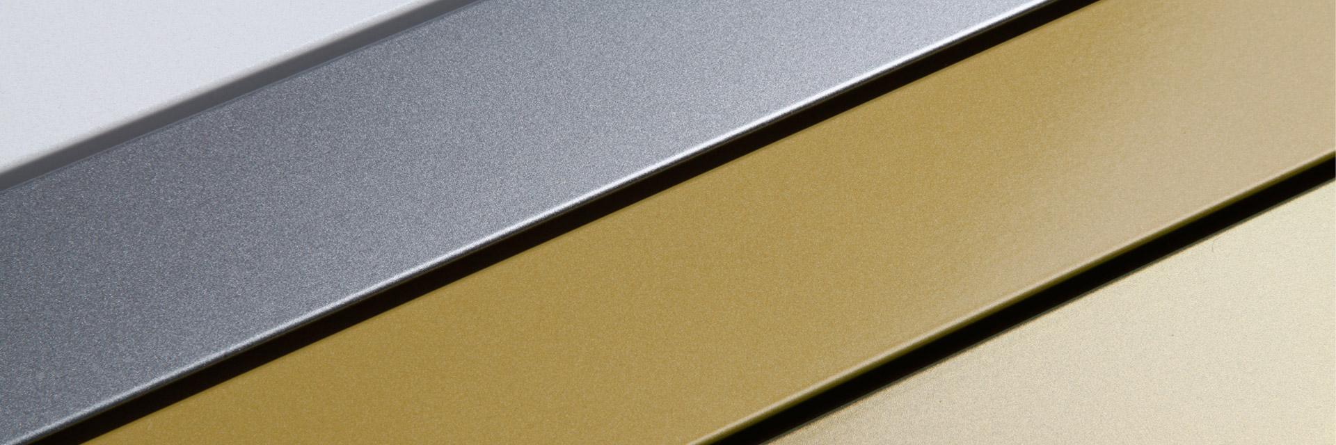 Profile lackiert mit goldenen und silbernen Tönen aus der Duraflon-Designserie
