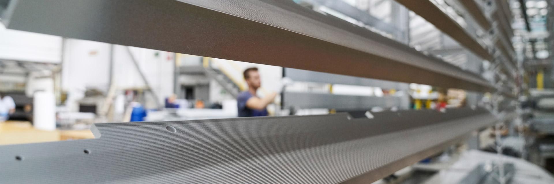 Blick in die Werkshalle der HD Wahl GmbH