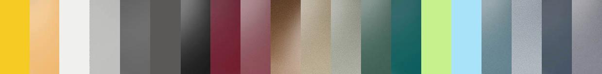 Farbstreifen mit 20 verschiedenen Farbtönen als Symbol für das große Farbspektrum von Duraflon