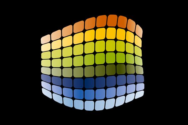 Buntes Duraflon-Logo auf schwarzem Grund