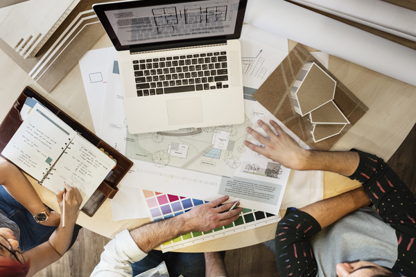 Oberflächenentwicklung für Gebäude als kreativer Prozess.